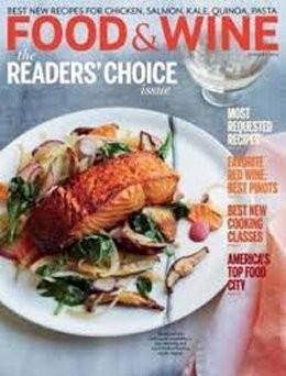 food and wine magazine january 2014