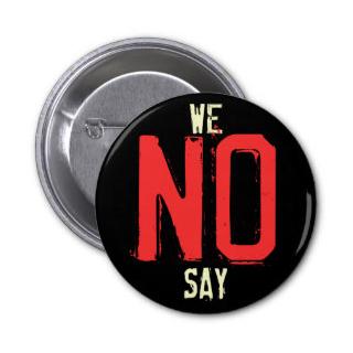we say no button