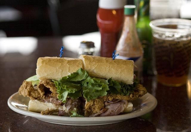 new orleans food poboy sandwich