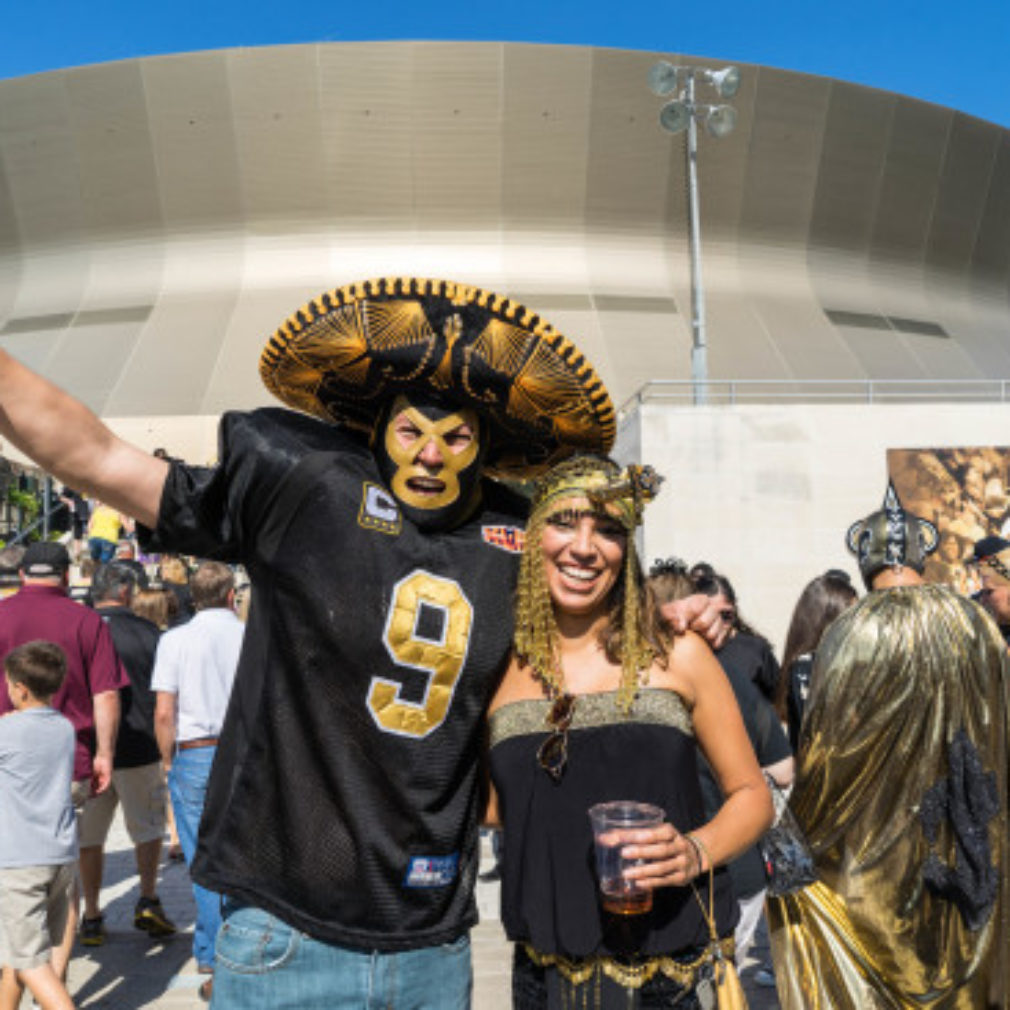 Saints Fans in Costume