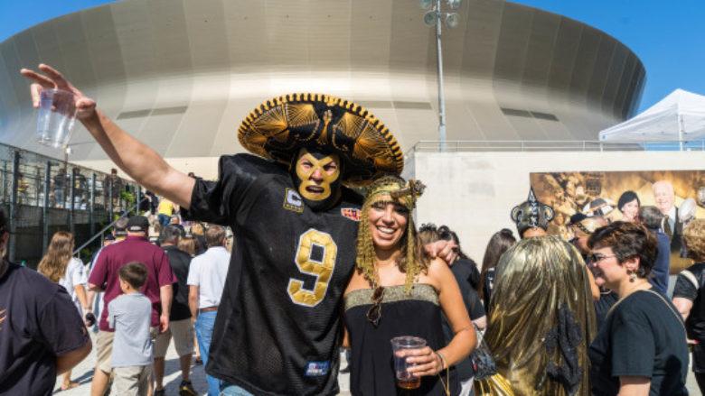 Saints Fans in Costume