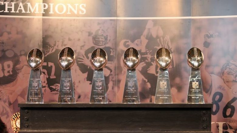 Lombardi Trophy at Super Bowl