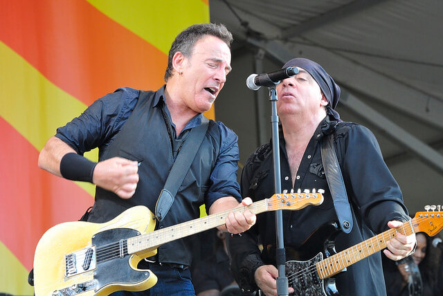 Bruce Springsteen and Steve Van Zandt perform at Jazz Fest. (Photo via Flickr Creative Commons)