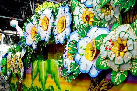 Handmade float decor at Mardi Gras World and Blaine Kern Studios. (Photo via Mardi Gras World on Facebook)
