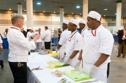 Students learn important elements of the foodservice industry during ProStart. (Photo via the Louisiana Restaurant Association website)