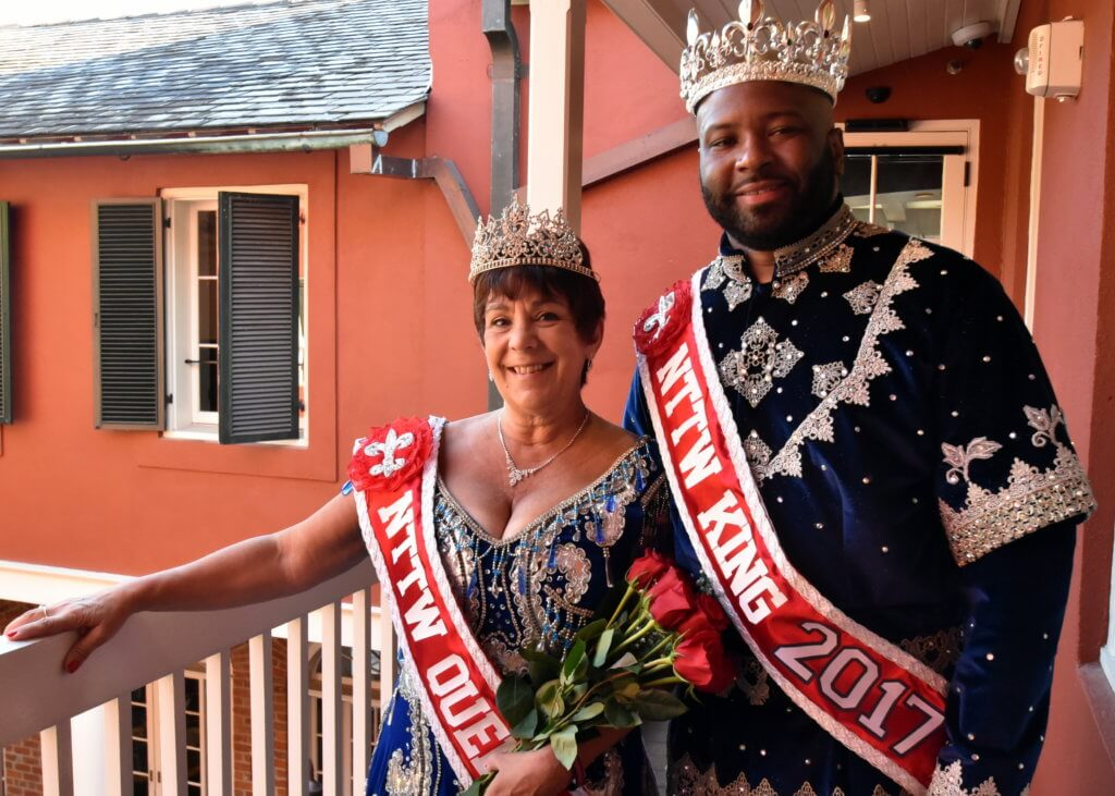 King Corey Bourgeois and Queen Pat Coulter
